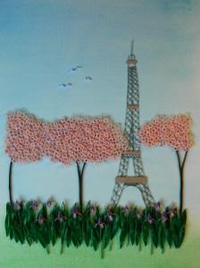 Eiffel and Irises